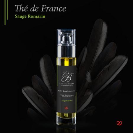 huile massage bio thé de france